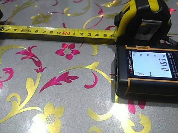 Telemetru . ruleta laser 60M (precizie+-2mm), lentile Germania SNDWAY