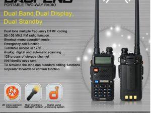 Statii portabile emisie receptie / walkie talkie Baofeng UV-5R NOI