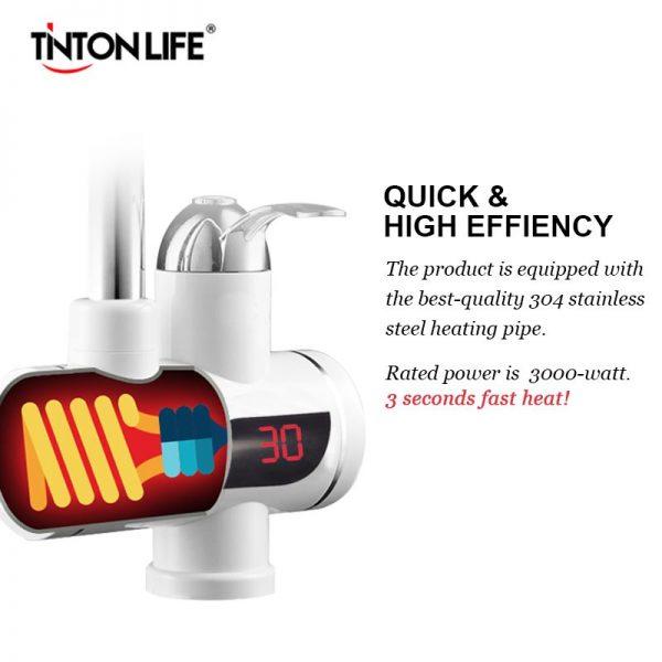 Robinet electric Tinton instant apa calda cu afisaj digital termic