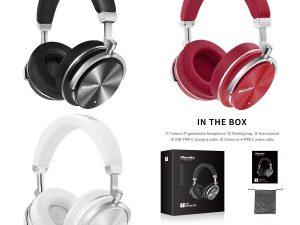 Casti Bluedio T4 Bluetooth 4.2, Wireless, microfon incorporat, Active Noise Cancellation, USB C