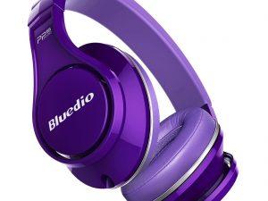 Casti Bluedio UFO, Bluetooth, 8 difuzoare PPS, Wireless, microfon incorporat, 3D, mov