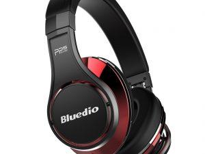 Casti Bluedio UFO, Bluetooth, 8 difuzoare PPS, Wireless, microfon incorporat, 3D, negru / rosu