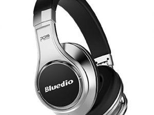Casti Bluedio UFO, Bluetooth, 8 difuzoare PPS, Wireless, microfon incorporat, 3D, negru / argintiu