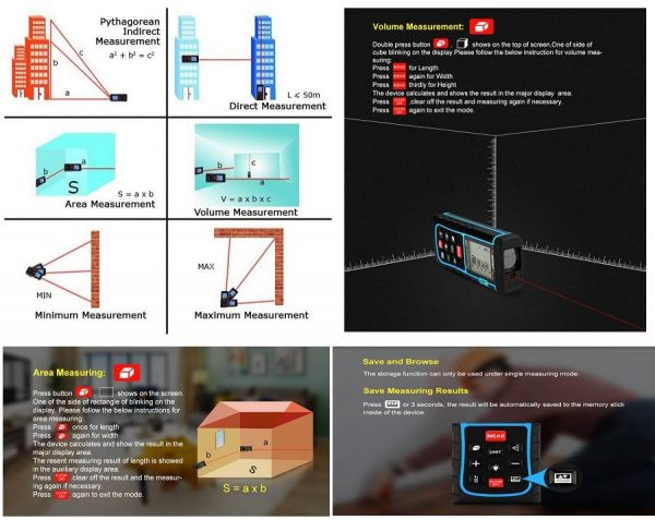Telemetru laser profesional 150 m, SNDWAY, seria E, precizie +/- 2mm, protectie IP54 (ploaie si praf)