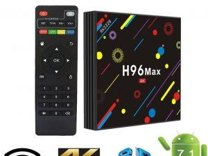 Mini PC TV Box H96 Max H2, 4K, Quad-Core, 4GB RAM, 32GB, WiFi dual band 2.4/5 GHz, Bluetooth, USB 3, HDMI, Android 7.1.2