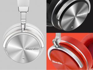 Casti Bluedio T4S Bluetooth 4.2, Wireless, Microfon incorporat, Active Noise Cancellation, USB C