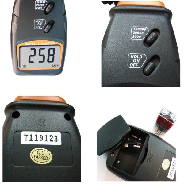Luxmetru LX-1010BS, instrument digital pentru masurarea intensitatii luminii (0-100.000 lux), fotodetector independent (4)