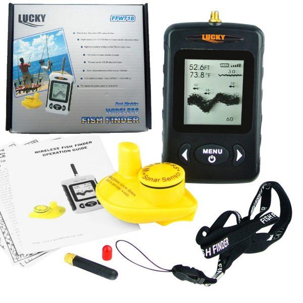 Sonar pescuit portabil wireless, Fish Finder, Lucky, localizare pesti, adancime apa, configuratie contur substrat acvatic 2