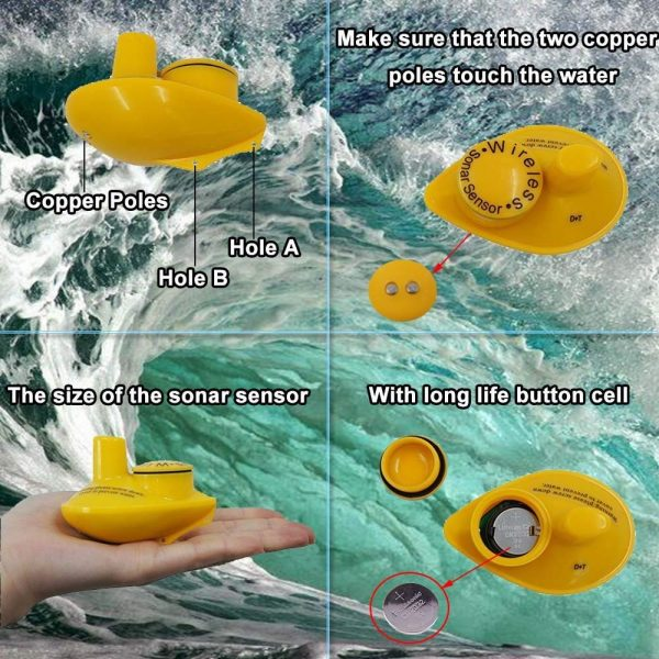 Sonar pescuit portabil wireless, Fish Finder, Lucky, localizare pesti, adancime apa, configuratie contur substrat acvatic 4