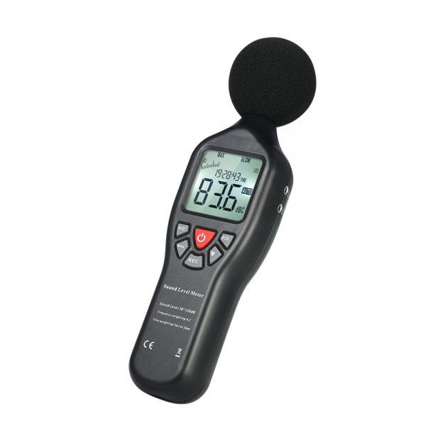 Sonometru (fonometru) digital profesional acustic pentru masurarea nivelului de sunet (zgomot) in decibeli, 30-130 Db, SLM-25, CD cu soft inclus 1