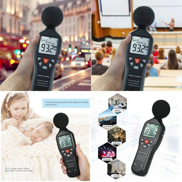 Sonometru (fonometru) digital profesional acustic pentru masurarea nivelului de sunet (zgomot) in decibeli, 30-130 Db, SLM-25, CD cu soft inclus 7