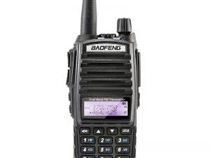 Statie Radio portabila emisie receptie Baofeng UV 82 Plus, Dual Band, 10W, Walkie Talkie, Radio FM, acumulator 2800 mAh, Casca cu microfon