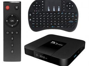Mini PC TV Box TX3 Mini, 4K, Quad-Core, WiFi, USB, HDMI, H265, Android 7.1.2, afisaj LCD, Mini Tastatura wireless iluminata 7 culori, CONFIGURAT cu aplicatii pentru TV, filme, seriale, Youtube, CONSULTANTA GRATUITA