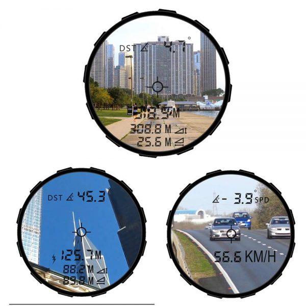 Telemetru laser (Monoclu) 1000m, SNDWAY® , Rangefinder reincarcabil, Telescop monocular golf, vanatoare, tir, constructii, masurare distanta, inaltime, unghi, viteza, protectie IP54 (ploaie si praf)