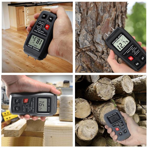 Aparat profesional (umidometru) pentru detectarea gradului de umiditate al lemnului, rigipsului si altor materiale inrudite