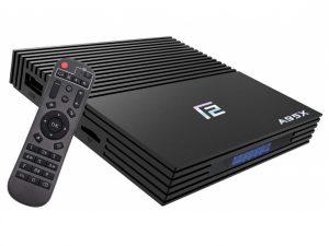 Mini PC TV Box A95X F2 cu telecomanda, 4K, Quad-Core, 4GB RAM, 32GB, WiFi dual band 2.4/5 GHz, Bluetooth 4.2, HDMI, USB 3, Android 9, Display digital, SPDIF, HDR10, Configurat cu aplicatii si programe suplimentare, Tastatura wireless iluminata 7 culori, Configurat cu aplicatii si programe suplimentare